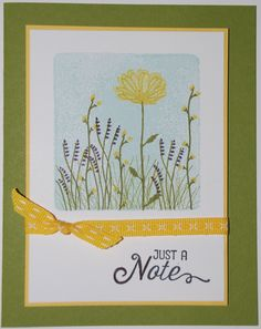 Stampin' Up! Delightful Daisy Suite - Daisy Delight Stamp Set & Clear Block - Old Olive, Daffodil Delight, Whisper White - See my website for measurements