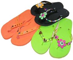 Make your own flip flop craft Flip Flop Craft, Decorating Flip Flops, Premier Designs Jewelry, Luau Party, Grad Parties, Birthday Party Themes, Birthday Ideas, Miller Sandal, My Guy