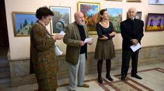 Salonul de toamna organizat de cenaclul Tuculescu la Cercul Militar Nati... Youtube, Military, Youtube Movies