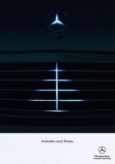 Advertising. Mercedes Benz Christmas Print Ad