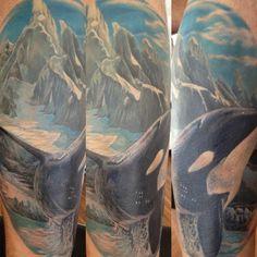 Orca tattoo, beautiful!