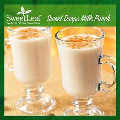 Our Sweet Drops Milk Punch is a must-try! | SweetLeaf Stevia | Featured SweetLeaf Recipes | #sweetleafstevia #stevia #recipes #sugarfree