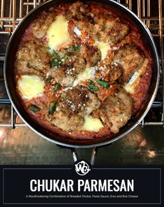 Parmesan, is a dish that consists of breaded breast meat covered in tomato sauce with mozzarella, parmesan, and sometimes creamy Brie cheese. This particular upland game bird recipe dishes up 6 lightly breaded and fried chukar breasts baked in a pasta sauce with cooked orzo pasta, creamy melted slices of Brie cheese and topped with grated parmesan cheese. Venison Recipes, Meat Recipes, Chicken Recipes, Game Recipes, Red Wine Reduction Sauce, Venison Tenderloin, How To Cook Orzo, I Love Food, Dinner Plates