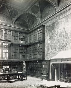 The library in the home of JP Morgan. The house was the first with electric lighting in NYC, installed personally by Thomas Edison.