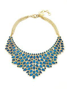 @Jill Blecha - probably too dark of a blue.  Amrita Singh - Resin Stone Bib necklace