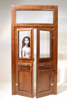 Door-open-for-Dolls-12-in-House-1-6-FR-Barbie-Momoko-Poppy-17-5-in-Diorama