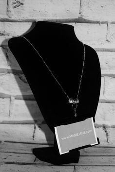 Want my work pass on this Necklace Lanyard by Masie Jane - Puffed Sliding Heart Charm