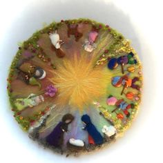 Jahreszeitentisch - Wollbild.Filz-Wandbild 4 Jahreszeiten.Jahreskreis. - ein Designerstück von Filz-Art bei DaWanda