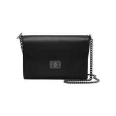 Delphie in Dark Silver Metallic Goat & Black Flat Calf Leather | family | Mulberry