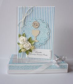 Blue communion card