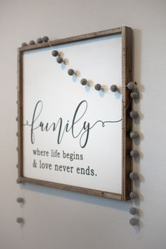 SHOP SMALL Handmade wooden signs for farmhouse style modern home / Bedroom / entry / living area Wood Signs Home Decor, Diy Wood Signs, Custom Wood Signs, Home Signs, Family Wood Signs, Handmade Home Decor, Unique Home Decor, Home Decor Items, Handmade Wooden