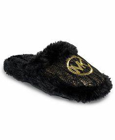 cb0d10557107 MICHAEL Michael Kors Jet Set MK Faux-Fur Slippers Shoes - Slippers - Macy s