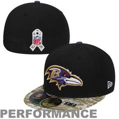 60e642525 New Era Baltimore Ravens Salute To Service On-Field 59FIFTY Fitted  Performance Hat - Black