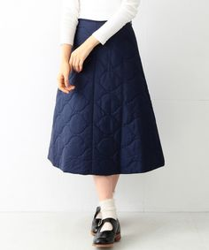 BEAMS BOY quilted skirt