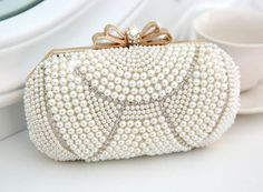 NEW Fashion Exquisite Beaded Evening Bag,Noble Elegant Pearl Clutch Bags, gold Shoulder Bags, Party Bag White Pearl HD149-in Clutches from Luggage & Bags on Aliexpress.com | Alibaba Group