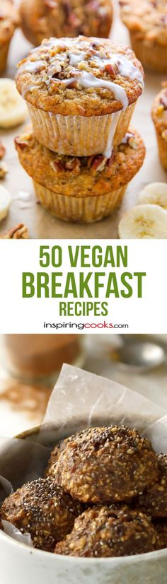 I compiled 50 easy vegan breakfast recipes that are all vegan. Many of them are gluten free also, they are all healthy and taste good.