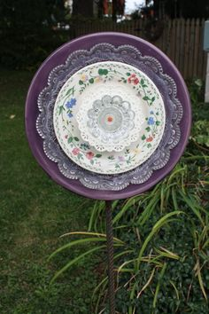 Garden dish flowers by BeccaRedo on Etsy