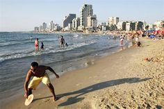 The beach in Tel Aviv.  You can't go wrong here.