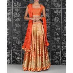 Monarch Orange Laser Cut Lengha Set