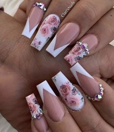Almond Acrylic Nails, Summer Acrylic Nails, Best Acrylic Nails, Nail Summer, Cute Acrylic Nail Designs, Nail Art Designs, Fancy Nails, Cute Nails, Pretty Nails