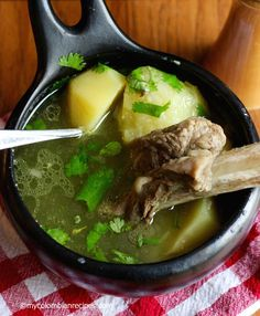 My Colombian Recipes_Caldo de Costilla (Colombian Beef Ribs Broth) . Colombian Dishes, My Colombian Recipes, Colombian Cuisine, Beef Recipes, Mexican Food Recipes, Soup Recipes, Cooking Recipes, Healthy Recipes, Ethnic Recipes