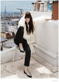 charlotte gainsbourg photoshoot 2014 04 Charlotte Gainsbourg Poses for The Edit, Talks Nicolas Ghesquière