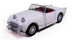 Austin Healey Sprite Paper Car In 1/30 Scale - by Ichyiama -         A  paper model of an Austin Healey Sprite paper model car in 1/30 scale that looks like a resin model kit, by Japanese designer Ichyiama.