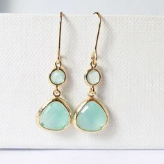 mint green earrings sea foam green dangle earrings by twixtdesigns