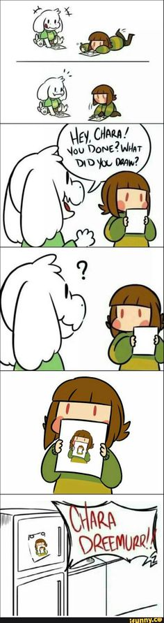 Undertale Asriel & Chara  wHAT THE ACTUAL HECK CHARA