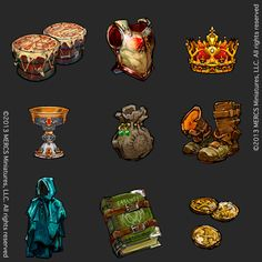 Card Items by Jonathan Vair Duncan | Illustration | 2D | CGSociety