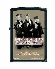 Zippo Limited 3 Stooges Higher Learning Zippo Lighter by Zippo. Save 13 Off!. $29.39. Only 500 made.  Each one individually numbered.
