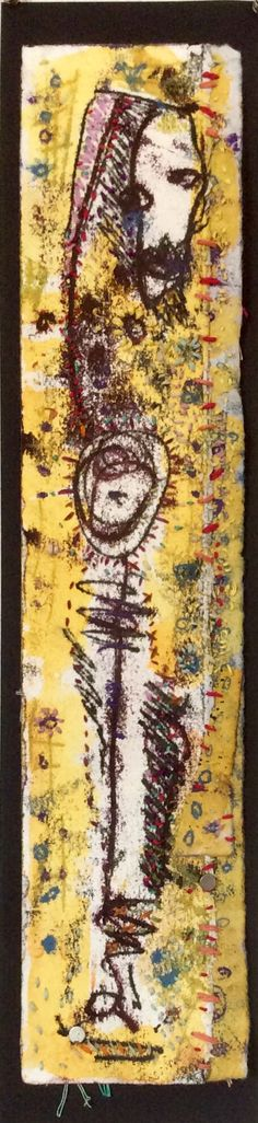 BEAUTIFUL DAY.  trace monotype and thread. 2015 Frances Crum.  http://adreamredeemed.blogspot.com/