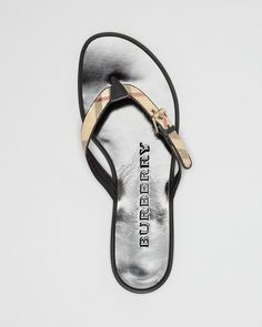 Burberry Flip Flop Sandals - Parsons Check Thong | Bloomingdale's