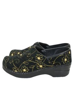 Sanita Professional Embroidered Danish Clogs Nurses Chefs Shoes Size 37