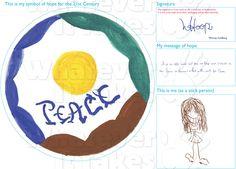 Whoopi Goldberg's original Symbol of Hope for the 21st Century artwork for: http://www.whateverittakes.org