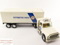 Nylint Semi Truck   Vintage  Steel Toy   18 Wheeler Toy   NAPA Auto Parts Truck  ~ Vintage Nylint pressed steel NAPA  conventional cab 18 wheeler semi truck  ~ Truck and tr...