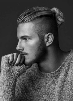 MAN WITH LONG HAIR TOP PONYTAIL - Google Search