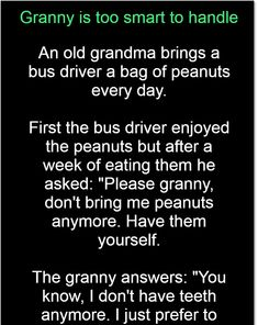 Granny is too smart to handle – Jokes Jelly Bus Driver, Great Stories, Hilarious, Funny, Jelly, Laughter, Bring It On, Jokes, Handle
