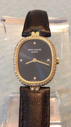 Patek Philippe Diamond Ellipse ref. 4698 18K Yellow Gold Blue Dial Quartz Watch