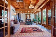 4679 W Alameda, Santa Fe, NM, 87507 MLS #201303231 a compound in town 3149 sf including guest house 1.25 acres white kitchen  walled completely with large trees and a treehouse 548K