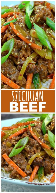 Craving Chinese takeout but don't feel like venturing out of your pajamas? Use this recipe and it's just 30 minutes to Szechuan Beef satisfaction!