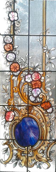 Amazing stained glass on Theatro Municipal de São Paulo, São Paulo, Brazil