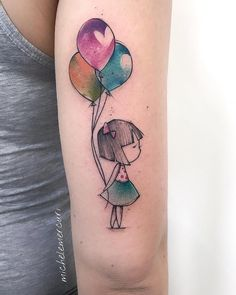 Gorgeous Watercolor Sketch Tattoos by Michele Mercuri - TattooSphera Mommy Tattoos, Mother Tattoos, Baby Tattoos, Sister Tattoos, Friend Tattoos, Great Tattoos, Mini Tattoos, Body Art Tattoos, Small Tattoos