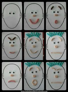 Oyun hamuru ile yüz ifadeleri