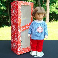 1983 Kathe Kruse Girl Doll Biene 35H in Original Box 14.5 Inch #KatheKruse