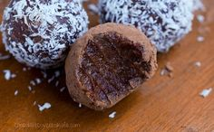 Raw Chocolate Fudge Balls – made nut free and low fat!