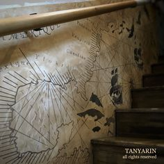 Plastering + Painting + Faux Finishing = Masterpiece #plaster #plastering #stucco #stairs #stairsidea #idea #creative #art #homedecor #homeliving #tanyarin #tanyarindecor #tanyarindecoration #decor #design #designer #decoration #fauxfinish #painting #paint #old #antique #map #polishedplaster #surface #indoor #interior #interiordesigner #architecture #armourcoat