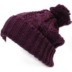 Amazon.com: ililily Solid Color Rigsby Pom Beanie Skull Cap Long Fold Knit Slouchy Winter Beanie (beanie-507-2) Black: Clothing