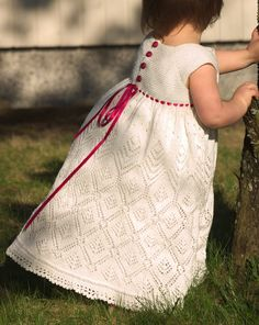 Free Knitting Pattern for Child's Lace Dress