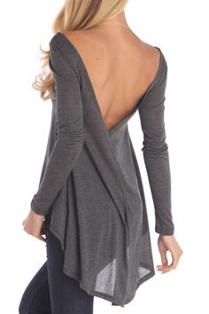 """Could have pinned this on """"Baby got Back"""" but I love it for ME!!  Tulip Bottom Top In Gray"""